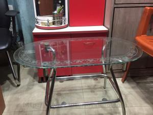 Stainless Steel And Glass Center Table